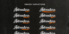 The Micrander Font poster