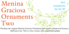 Menina Graciosa Ornaments Two Font text design