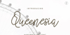Queenesia Font handwriting typography