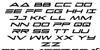 Capella Italic Font Letters Charmap