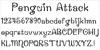 Penguin Attack Font font graphic