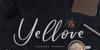 Yellove DEMO Font handwriting drink