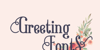 Good Brinton Font design typography