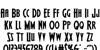 Wolf's Bane II Regular Font Letters Charmap