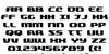 Quickening Regular Font Letters Charmap