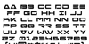 Free Agent Bold Font Letters Charmap
