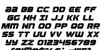 Ozda Italic Font Letters Charmap