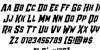 Raider Crusader Font Letters Charmap