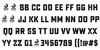 Sucrose Bold Two DEMO Font Letters Charmap
