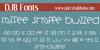 DJB COFFEE SHOPPE BUZZED Font text screenshot