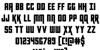 Kondor Regular Font Letters Charmap