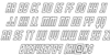 Young Patriot Outline Italic Font Letters Charmap