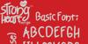 Strong Heart Font poster font