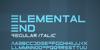 ElementalEnd Font screenshot design