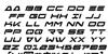 Free Agent Bold Italic Font Letters Charmap
