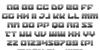 Legacy Cyborg Gradient Font Letters Charmap