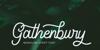 Gathenbury Typeface Font poster