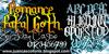 Romance Fatal Goth Font design text