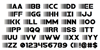 Bamf Font Letters Charmap