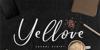 Yellove DEMO Font text design
