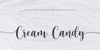 Cream Candy Font poster