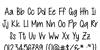 Cutie Patootie Font Letters Charmap