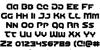 Gunner Storm Font Letters Charmap
