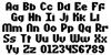 Sundowner Regular Font Letters Charmap