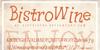 BistroWine Font text poster