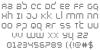 Byte Police Font Letters Charmap