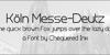 Koln Messe-Deutz Font design text
