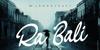RA BALI Font outdoor poster