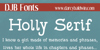 DJB Holly Serif Font text font