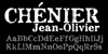 Chenier Font poster typography