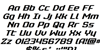 Realpolitik Italic Font Letters Charmap
