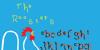 Rooster Font bird illustration