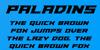 Paladins Font poster