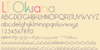 LT Oksana Font handwriting text