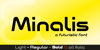 Minalis Demo Font text
