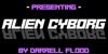 Alien Cyborg Font screenshot design