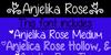Anjelika Rose Font text