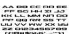 Outrider Font Letters Charmap