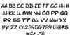 New Walt Disney UI Font Letters Charmap