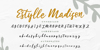 Estylle Madison Font handwriting text