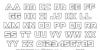 Liberty Island Outline Regular Font Letters Charmap