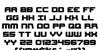 Gearhead Regular Font Letters Charmap