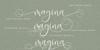 Isyana Script Font poster