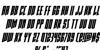 Rhinoclops Italic Font Letters Charmap