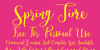 Spring Time Personal Use Font handwriting text
