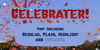Celebrater PERSONAL USE Font poster screenshot